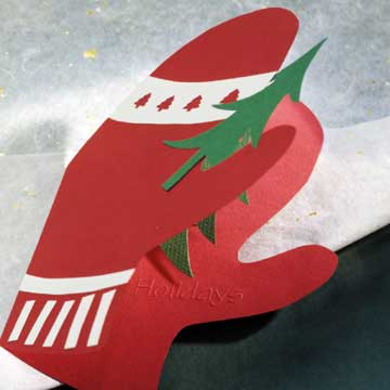 christmas mittens card closed