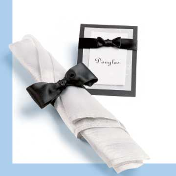 bow-tie napkin holder and place card