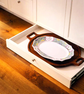 Under-Counter Storage Drawer with Serving Platters