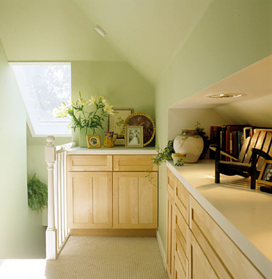 Remodeled Attic Storage Cabinets