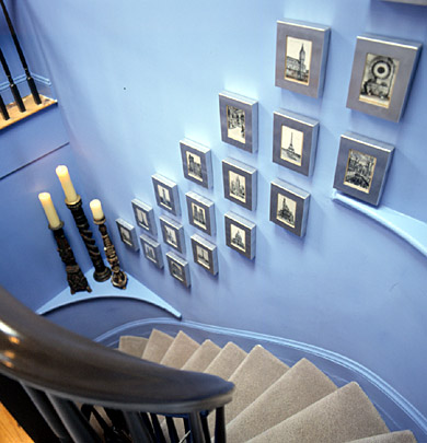 Stairwell with Gallery Wall