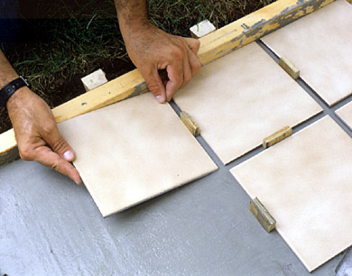 Placing Tile with Spacers