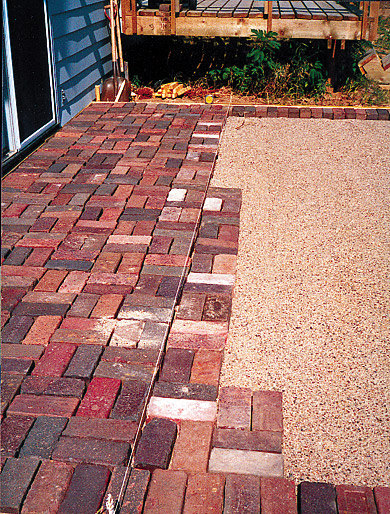 Charming Laying Brick Patio Step 3