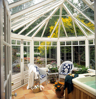 What to know before adding a sunroom better homes gardens for Bhg greenhouse