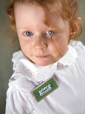 StPatDay_Little Red Head With An Irish Today Pin On White Shirt
