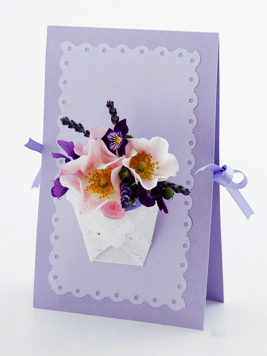 Easter card with ribbon