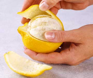 peeling fruit