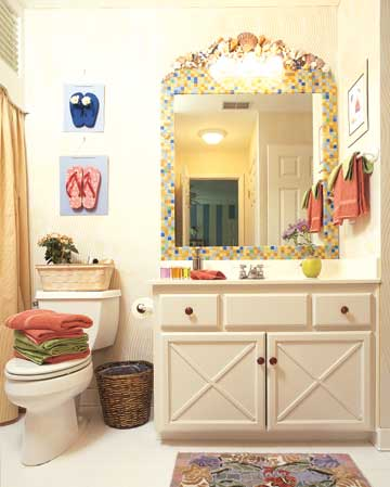 mosaic guest bathroom