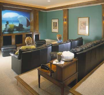 living room basement converting basements into living space better homes 10866