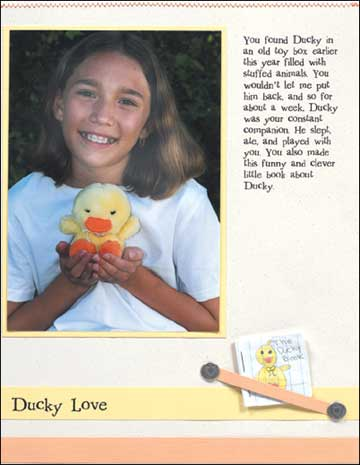 Ducky Love - scrapbook page