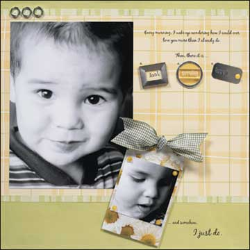 I just do - scrapbook page