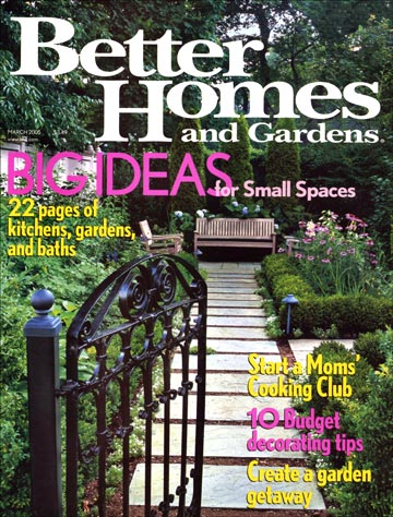 Better Homes and Gardens March 2005 Cover