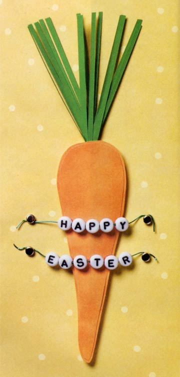 Easter Carrot On Yellow Background
