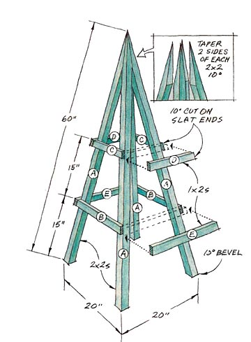 Plant Obelisk, construction drawing