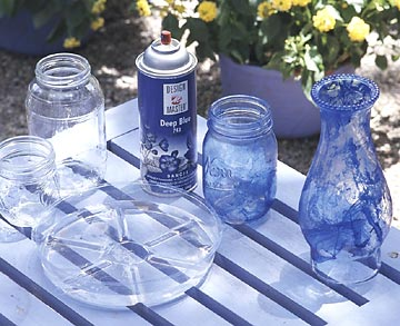 Step 1: blue glass votive how-to