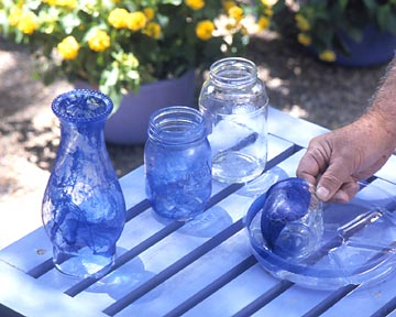 Step 3: blue glass votive how-to