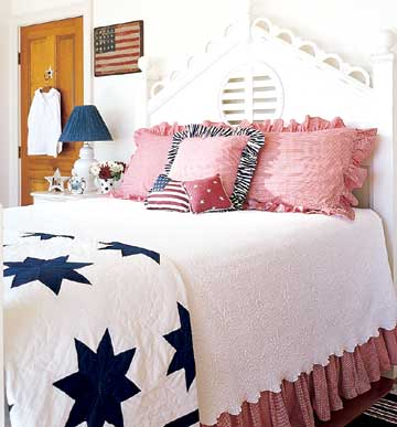 Red, White, and Blue Bed