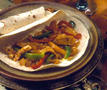 stir fry in tortilla