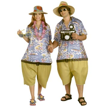 Two Tropical Tourist Adult Costumes