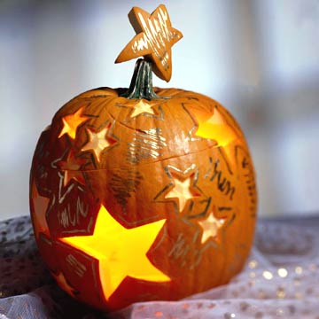 Glowing Stars Pumpkin