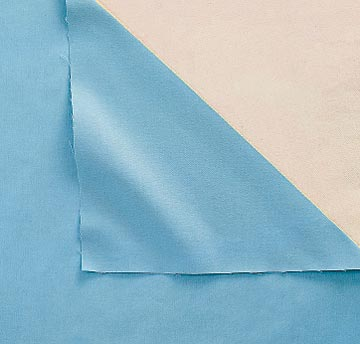 Blue cloth with corner folded back