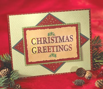 Christmas Card with Christmas Greetings on Front