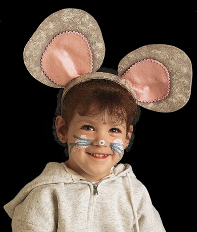 Girl in Mouse Costume - Headshot