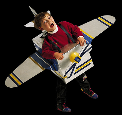Boy in Airplane Costume