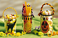 Decorated Halloween Candy Jars