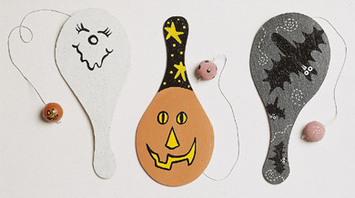 Three Halloween Paddleballs