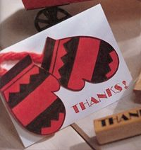 Mitten Thank You cards