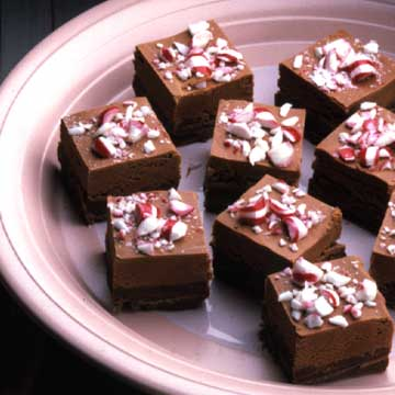 fudge with candy toppings