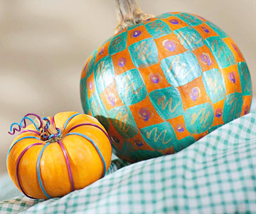 Pattern Painted Pumpkins