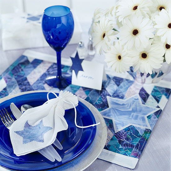 Hanukah table setting
