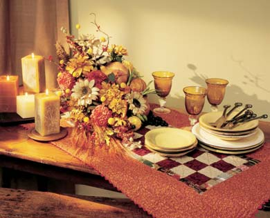 Fall Flower Table Setting