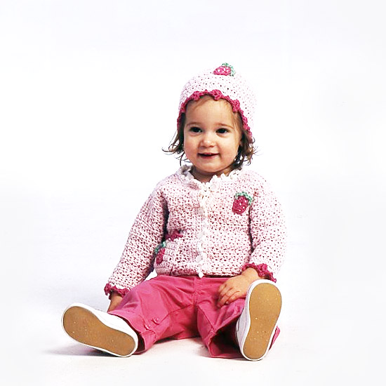 KidCozies_baby_in_pink_strawberry_sweater_and_hat