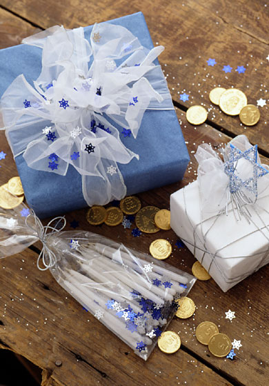 Giftwrap Boxes for Hanukkah Surprises