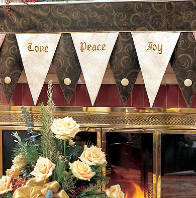 Love Peace Joy Mantel