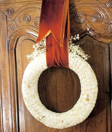 White Wreath Hanging