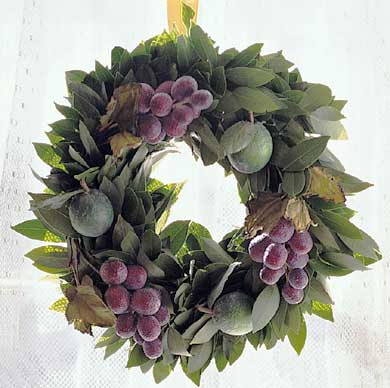 Bay Leaves and Lime Wreath