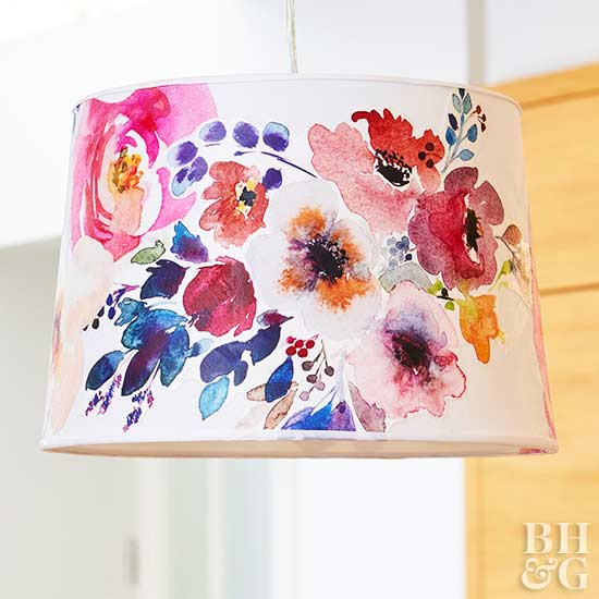 floral lampshade