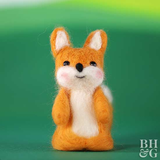 Felt orange and white Fox