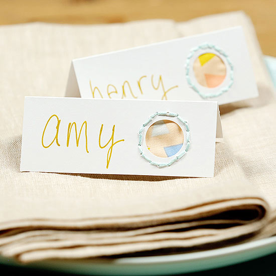 Pretty Place Cards from Crafting Scraps
