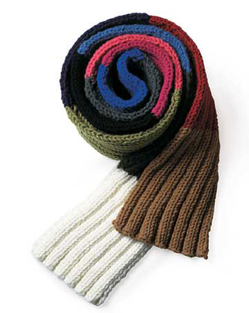 rolled up scarf