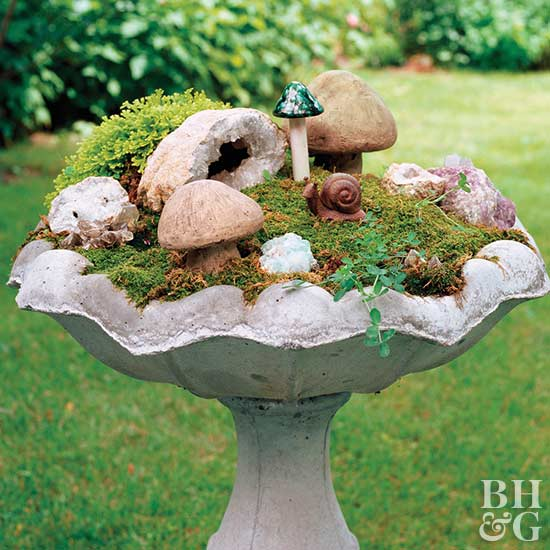 Home for a gnome, Garden Ideas magazine, Honey I Shrunk the Garden, miniature garden, tiny gardens, dwarf plantings.