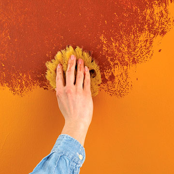 Sponge painting step by step instructions for the paint for How to sponge paint a wall without glaze