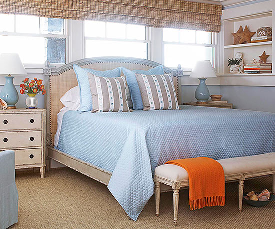soft blue bedroom