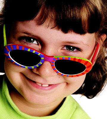 Girl with Painted sunglasses on