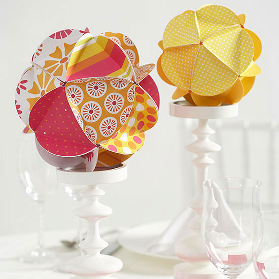 Paper ball centerpiece