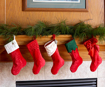Row of stockings